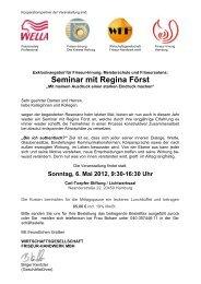 Seminar mit Regina Först