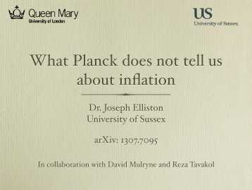 What Planck does not tell us about inflation