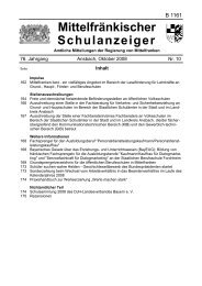 Mittelfränkischer Schulanzeiger - Regierung von Mittelfranken ...