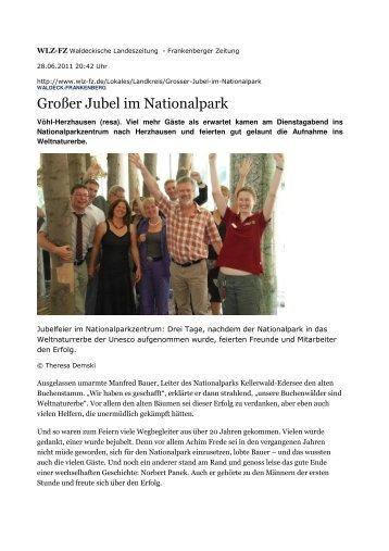 Großer Jubel im Nationalpark - Nationalpark Steigerwald