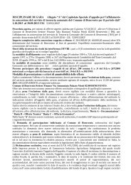 """DISCIPLINARE DI GARA Allegato """"A"""" del Capitolato Speciale d ..."""