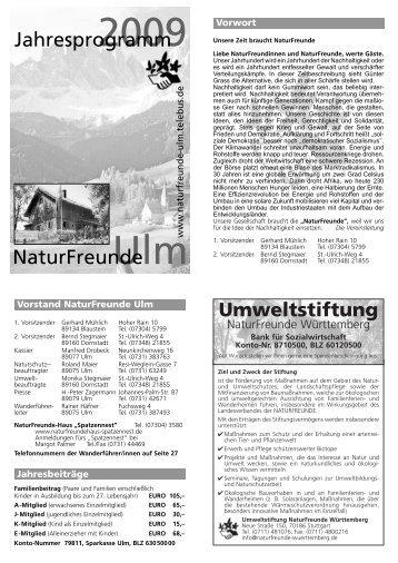 Layout 1 (Page 1) - NaturFreunde Ortsgruppe Ulm - Telebus