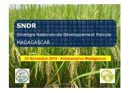 SNDR Madagascar GSRI - Groupement SRI Madagascar