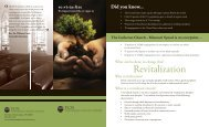 TCN Revitalization Brochure - North Wisconsin District of the ...