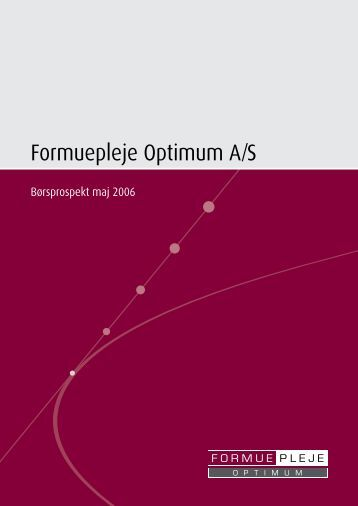 Formuepleje Optimum A/S