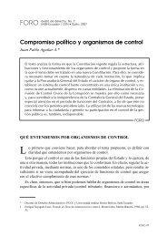 Compromiso político y organismos de control - Repositorio UASB ...