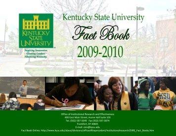 Fact Book 2009-2010 - Kentucky State University