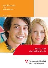 Wege nach der Mittelschule - planet-beruf regional - Planet Beruf.de
