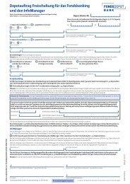 Depotauftrag Freischaltung für das Fondsbanking ... - Fondsbroker