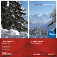 Winterwanderprogramm 2012-2013