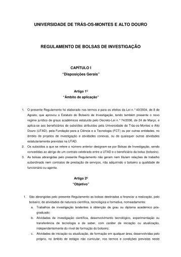 UNIVERSIDADE DE TRÁS-OS-MONTES E ALTO DOURO ... - Utad