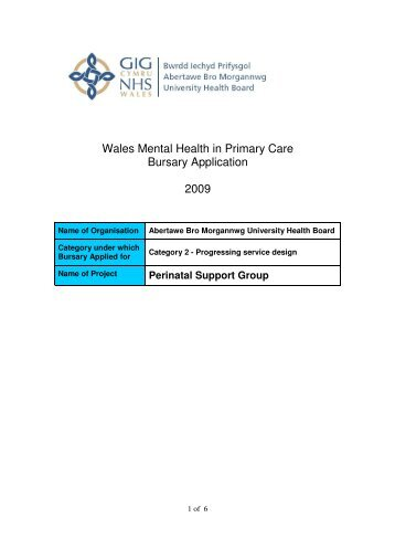 Perinatal Support Group - Primary Mental Health Care and Services ...