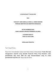 1 UCAPAN BAJET TAHUN 2009 Oleh YAB DATO' SERI ... - Treasury