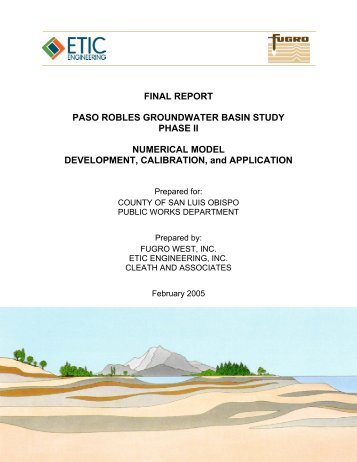 FINAL REPORT PASO ROBLES GROUNDWATER BASIN STUDY PHASE II ...