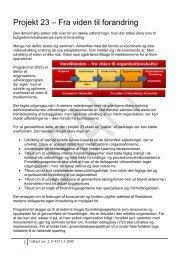 Projekt 23 – Fra viden til forandring - AlmenNet