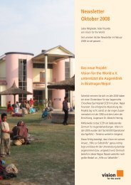 Newsletter Oktober 2008 - Vision for the World