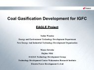 Coal Gasification Development for IGFC - Expert Group on Clean ...
