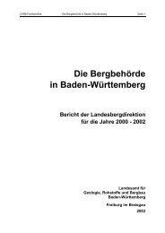 Die Bergbehörde in Baden-Württemberg - Landesamt für Geologie ...