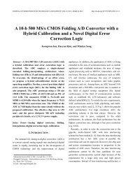 A 10-b 500 MS/s CMOS Folding A/D Converter with a Hybrid ... - JSTS