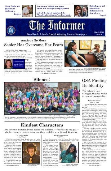 Informer April 2013 Issue - Woodlynde School