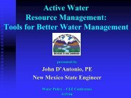 Tools for Better Water Management - John D'Antonio, New Mexico ...
