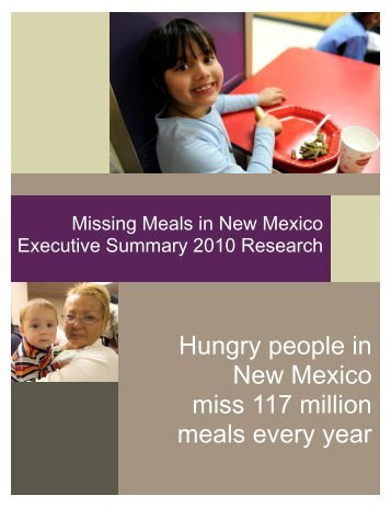 download the executive summary - New Mexico Association of Food ...