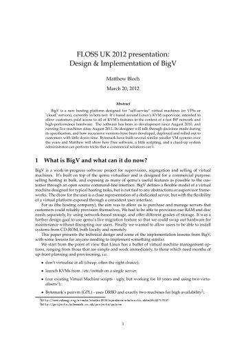Design & Implementation of BigV - Bytemark Blog