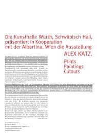 ALEX KATZ. - Kulturmagazin-Bodensee.de