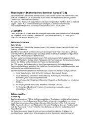 Theologisch-Diakonisches Seminar Aarau TDS (PDF) - Verband ...