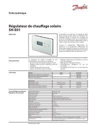 Fiche technique Régulateur de chauffage solaire SH-E01 - Danfoss ...