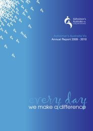Every day we make a difference - Alzheimer's Australia