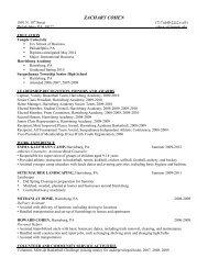 Zach's Resume - Temple Fox MIS - Temple University