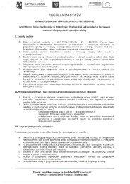 Regulamin stażu (nowy) - Kierunki zamawiane - Politechnika ...