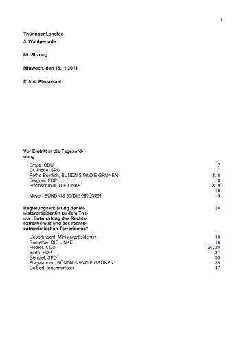 Thüringer Landtag 5. Wahlperiode 69. Sitzung Mittwoch, den 16.11 ...
