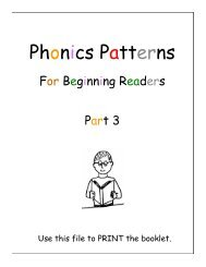 Phonics Patterns 3 - Sound City Reading