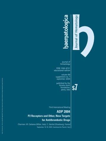 Haematologica 2004;89: supplement no. 7 - Supplements ...