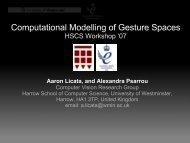 Gesture Space - University of Westminster
