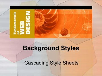 2. Background Styles - Elktech.org