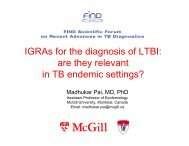 IGRAs for the diagnosis of LTBI: are they relevant in TB endemic ...