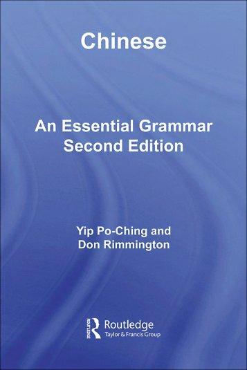 Chinese: An Essential Grammar
