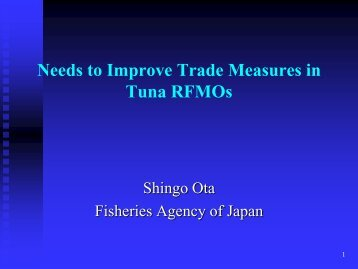 Needs to Improve Trade Measures in Tuna RFMOs - Tuna-org