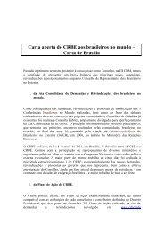 Carta aberta do CRBE aos brasileiros no mundo Carta de Brasília ...