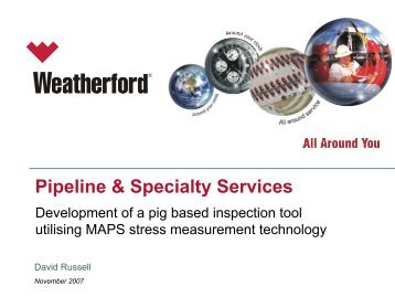 Pipeline & Specialty Services - PPSA, the Pigging Products and ...