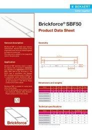Data Sheet Brickforce® SBF50 - Bekaert