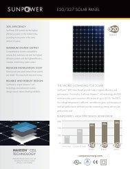 SunPower E20 327W Specs - Green Mountain Power