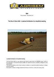 localized fertilization for simplified seeding