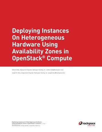 Rackspace Availability Zones White Paper / Proof 2