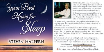 Sleep - Inner Peace Music Steven Halpern