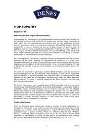 HOMEOPATHIC REMEDIES - Denes Natural Pet Care