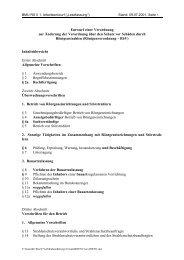 Entwurf einer Verordnung zur Änderung der RöV vom 09.07.2001